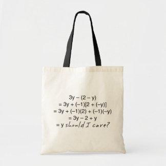 Algebra warum sollte i-Sorgfalt-Spaß Tragetasche
