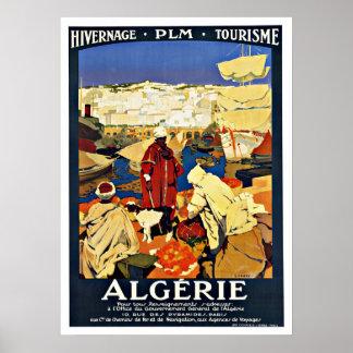 Algerie Vintage Reise Poster