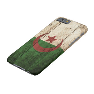 Algerien-Flagge auf altem hölzernem Korn Barely There iPhone 6 Hülle