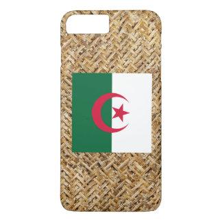 Algerien-Flagge auf dem Gewebe themenorientiert iPhone 8 Plus/7 Plus Hülle