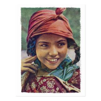 Algerische Mädchen-Postkarte Postkarte