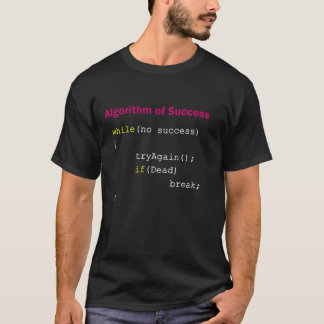 Algorithmus für Erfolgs-T - Shirt