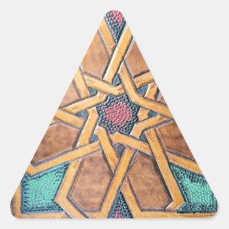 Alhambra-Entwurf #1 Dreieckiger Aufkleber
