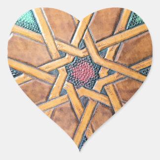 Alhambra-Entwurf #1 Herz-Aufkleber