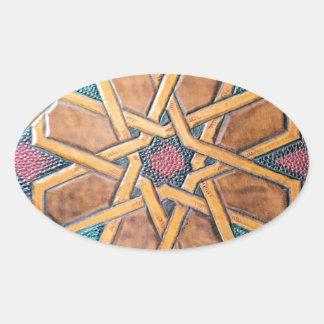 Alhambra-Entwurf #1 Ovaler Aufkleber