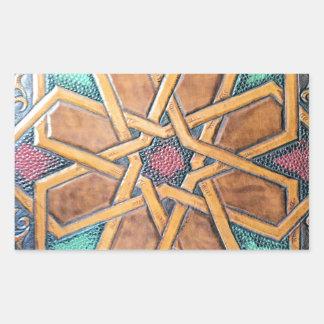 Alhambra-Entwurf #1 Rechteckiger Aufkleber