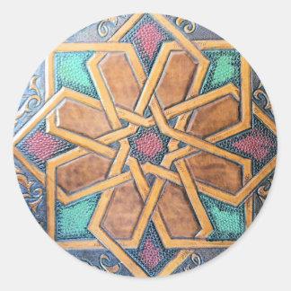 Alhambra-Entwurf #1 Runder Aufkleber