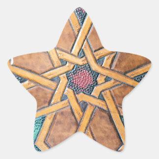 Alhambra-Entwurf #1 Stern-Aufkleber