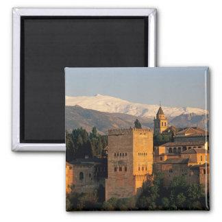 Alhambra; Granada; Andaslusia, Spanien, Sierra Quadratischer Magnet