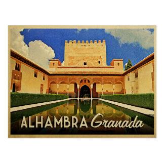 Alhambra Granada Spanien Postkarte