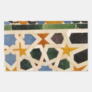 Alhambra-Wand-Fliese #3 Rechteckiger Aufkleber