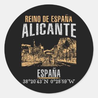 Alicante Runder Aufkleber