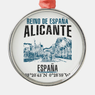 Alicante Silbernes Ornament