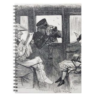 Alice auf dem Zug Spiral Notizblock