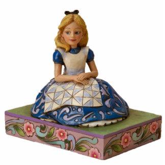 Alice auf einer Buch-Verzierung Fotoskulptur Ornament