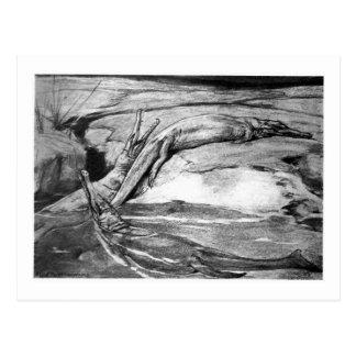 Alice B. Woodward: Metriorhynchus Kunstpostkarte Postkarte