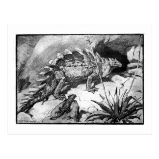 Alice B. Woodward: Stegosauruskunstpostkarte Postkarte