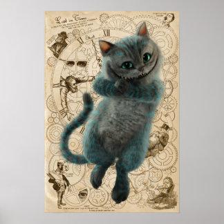 Alice durch das Katzen-Grinsen des Spiegel-| Poster