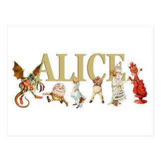 Alice durch den Spiegel Postkarte