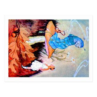 Alice ersucht um Rat von der Raupe Postkarte