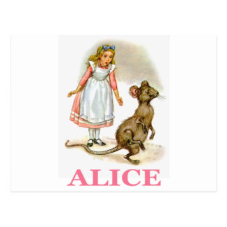 Alice folgt der Maus Postkarte