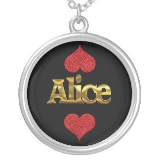 Alice-Halskette Versilberte Kette
