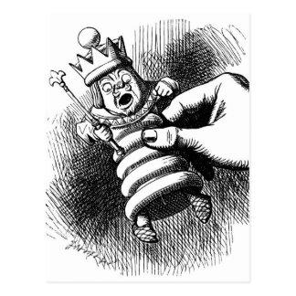 Alice hält den weißen König Postkarte