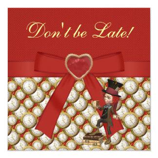 Alice im Wunderland-Baby-Duschen-Tee-Party lädt Quadratische 13,3 Cm Einladungskarte