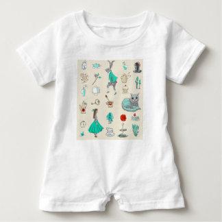 Alice im Wunderland Baby Strampler