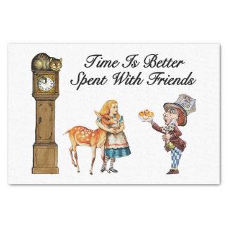 Alice im Wunderland besser mit Freunden Seidenpapier