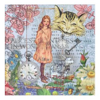 Alice im Wunderland-Cheshire-Katze Acryldruck