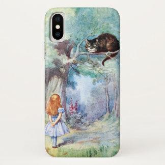 Alice im Wunderland-Cheshire-Katze iPhone X Hülle