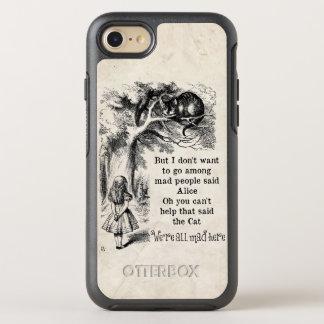 Alice im Wunderland; Cheshire-Katze mit Alice OtterBox Symmetry iPhone 8/7 Hülle