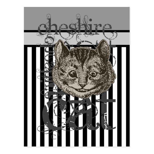 Alice im Wunderland-Cheshire-KatzeGrunge Postkarten