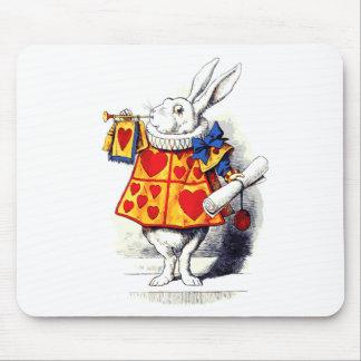 Alice im Wunderland das weiße Kaninchen durch Mauspad