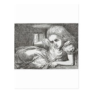 Alice im Wunderland dreht Riesen Postkarte