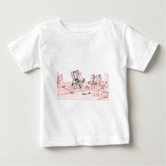 Alice im Wunderland durch Lewis- Carrollrosa Baby T-shirt