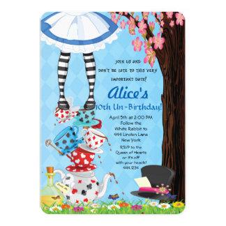 Alice im Wunderland-Einladungen 12,7 X 17,8 Cm Einladungskarte