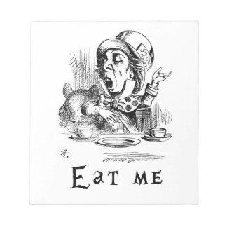Alice im Wunderland - essen Sie mich Notizblock