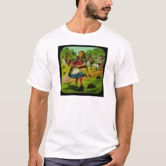 Alice im Wunderland-Flamingo-Krokett T-Shirt