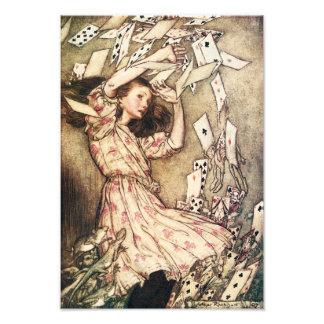 Alice im Wunderland-Fliegen-Karten Photos