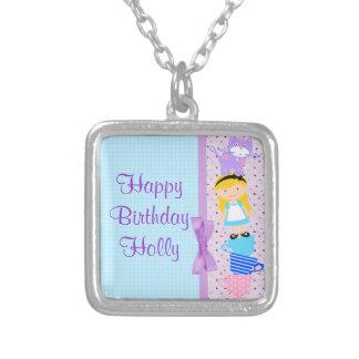 Alice im Wunderland-Geburtstags-Feier Versilberte Kette