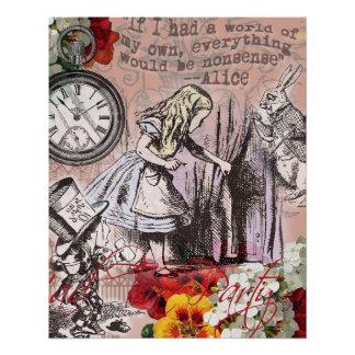 Alice im Wunderland hinter dem Vorhang Poster