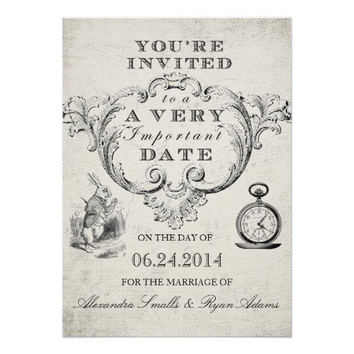 Alice im Wunderland-Hochzeits-Einladung