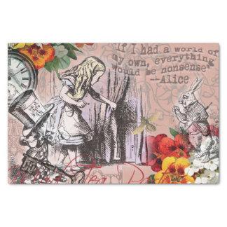 Alice im Wunderland-Hutmacher und Kaninchen Seidenpapier