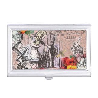 Alice im Wunderland-Hutmacher und Kaninchen Visitenkarten Etui