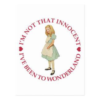 Alice im Wunderland - ich bin nicht dieses Postkarte