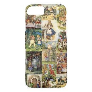 Alice im Wunderland iPhone 7 Falcollage iPhone 8/7 Hülle