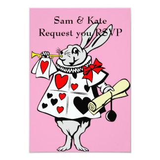 Alice im Wunderland-Kaninchen-Hochzeits-Einladung Karte