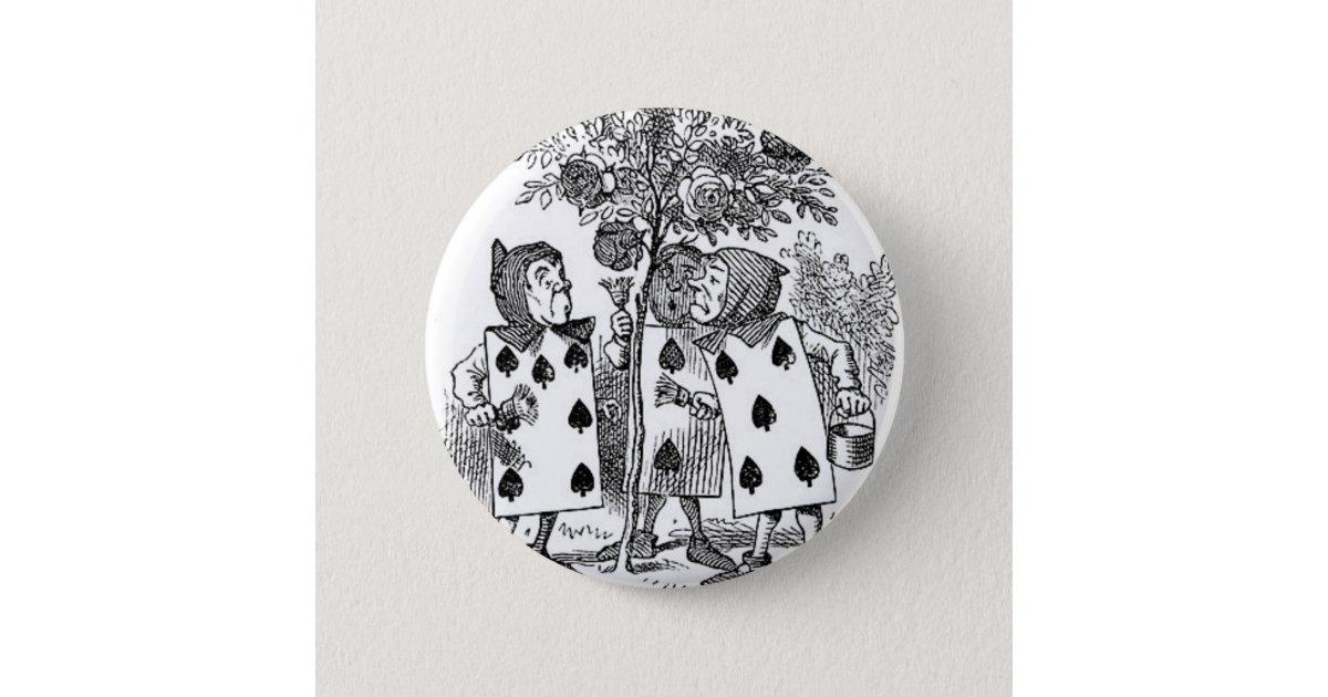 alice im wunderland karten soldaten button. Black Bedroom Furniture Sets. Home Design Ideas